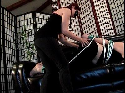 Bondage clip Spanking